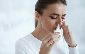 Using Nasal Spray